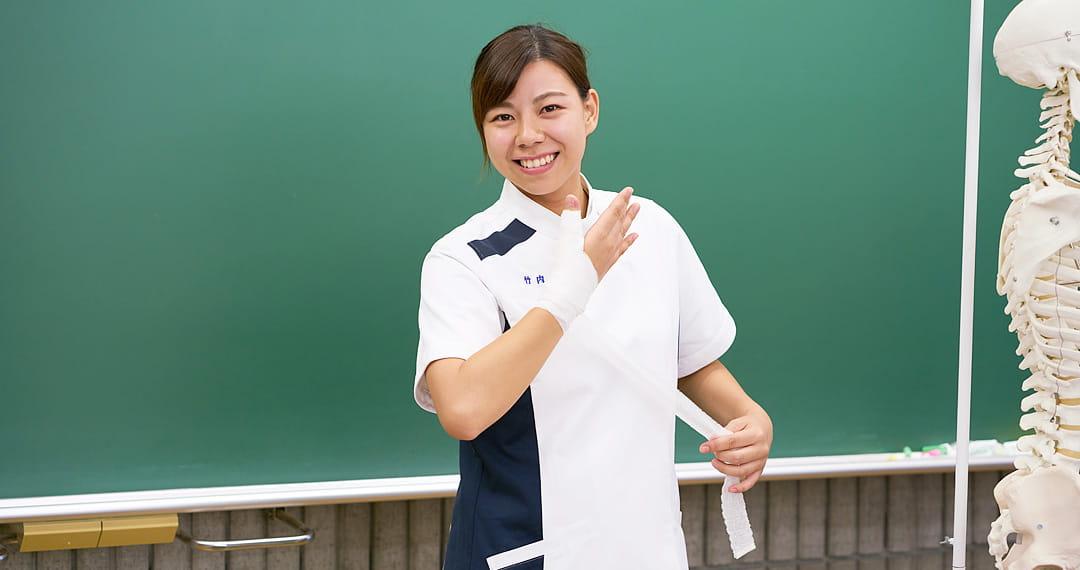 柔道整復コース 3年在学中 竹内さん
