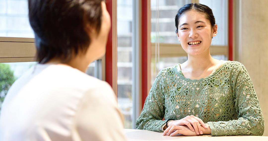歯科衛生コース 2年在学中 富田さん